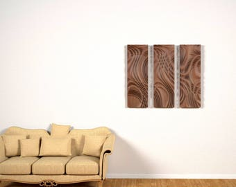 "Wood wall art, home decor, bas-relief sculpture, woodcarving ""Abstract flow"""