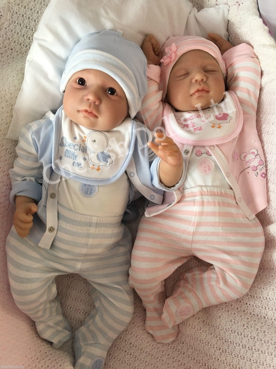 Reborn baby twins boy & girl Chase and Miley newborn 22
