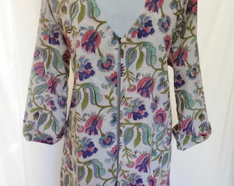 Cotton jacket block print fabric