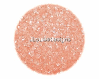 Pastel Peach Sugar Crystals, Edible Sprinkles Cake,Cakepops, Cookie and Cupcake Sprinkles Confetti Decorations