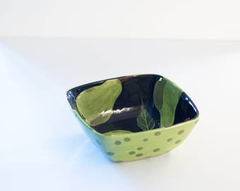 Ceramic Bowl Small Serving Bowl Pottery Bowl Pear Small Square Bowl Wedding Gift for Couple Bridal Shower Gift for Bride Housewarming Gift