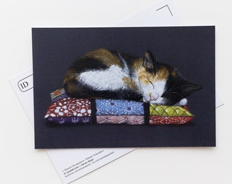 Postcard Sweet sleep - Animal - Cat - Stationery