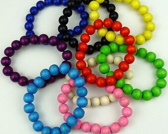 Bright Wood Bead Bracelets