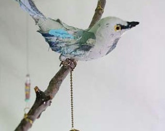 Bird Mobile, art doll, bird doll, mobile,bird mobile