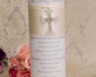 Memorial candle, memory candle, personalized wedding memorial candle, remembrance candle, customized wedding candle