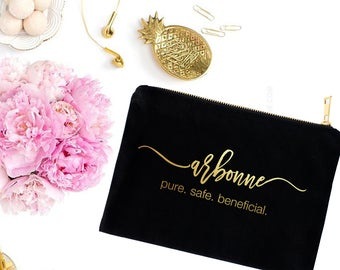 Gold or Silver Foil Cosmetic Bag- Cute Makeup Pouch - Swag Bag - Toiletry Bag - Coin Purse