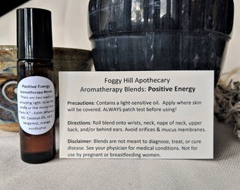 Positive Energy #1 Aromatherapy Blends in a Roller Bottle