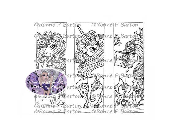 Unicorn Bookmarks Coloring Page