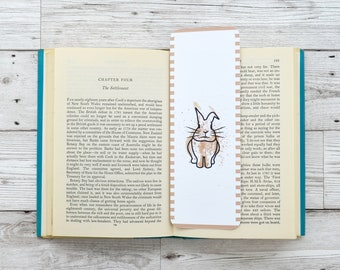 Rabbit Bookmark, Book Lover Gift, Cute Bookmark, Small Gift, Bookmark for Friend, Bookmarker, Animal Bookmark, Easter Bookmark,Bookworm Gift