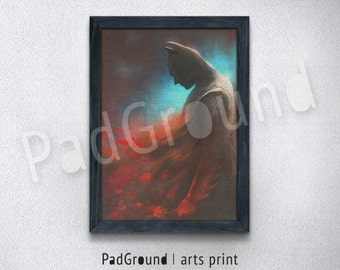 Batman Print, Dark Knight Poster, Superhero Poster, DC Comics, Home Decor, Wall Decor, Boys Birthday Gifts, Burlap Print with Frame - BM17