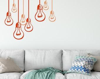 Light Bulbs Wall Decals