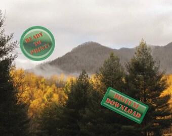 Winter Meets Fall Mountain Photo Digital Photography Changing Seasons