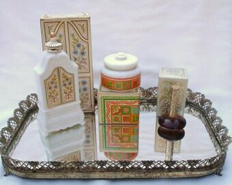 Three Vintage Avon perfumes/jars - Armoire, Patchwork, Birds of Paradise