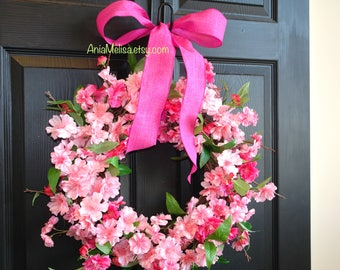 spring wreath for front door wreaths cherry blossom wreaths for front door wreaths wall decorations yellow spring wreaths