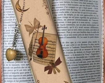 """Laminated bookmarks """"Violin"""""""