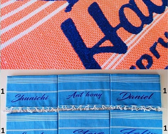 Personalized Turkish Towel Service,Embroidery Service For Turkish Towels,Monogrammed Turkish Towel,Add Embroidery To Your Towel