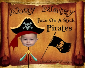 Face On A Stick Pirates