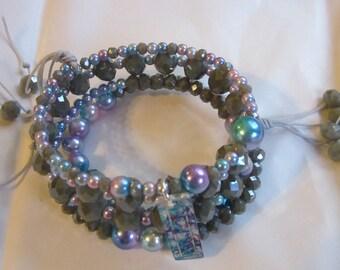 Twilight Sky Memory Wire Bracelet