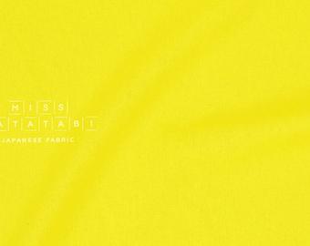 Japanese Fabric Kokka Tayutou solids - brightest yellow - fat quarter
