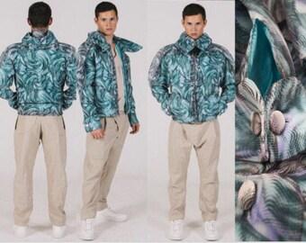 Grey and aquatic wonder mesh jacket