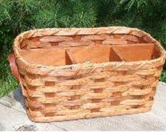 Amish Hand Made Silverware & Napkin Basket