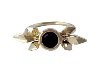 Black Onyx Aria Ring // Black Onyx Crystal Cluster Ring