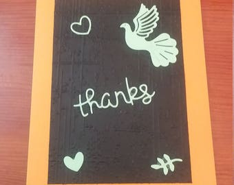 6 thank you notes with embellishments sentiments and spaces for your personal thoughts.