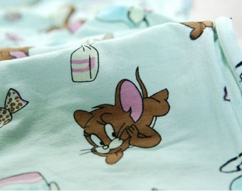 jerry tom  knit fabric/Tom & jerry baby mouse cartoon cute knit fabric/baby knit fabric ice cream candy knit fabric/rabbit  knit fabric