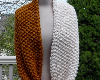 butterscotch and ivory infinity scarf