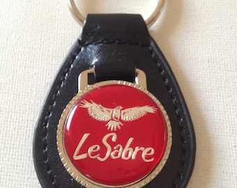 Buick LeSabre Keychain Black Leather Key Chain