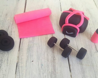 Work Out /Fitness Themed Cake Toppers