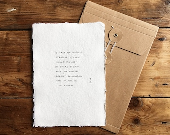 So huge | Poem on cotton paper