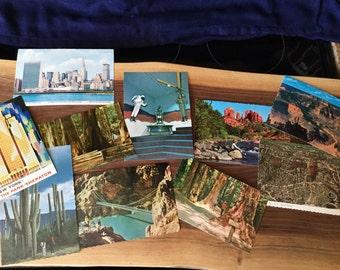 Lot de cartes postales des années 1960 cru