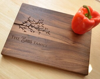 Housewarming Gift, Personalized Cutting Board, Engraved Walnut Cutting Board, Custom Personalized Wedding Gift, Anniversary, Christmas Gift