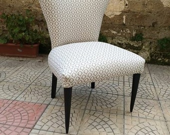 Reupholstered hand made chair