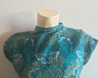 Handmade 70s Butterfly Dress