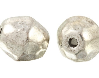 22 Pcs 6x7 mm Zinc Alloy Plain Faceted Beads (PUT4001126)