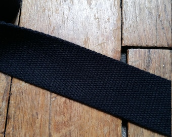 Black cotton strap