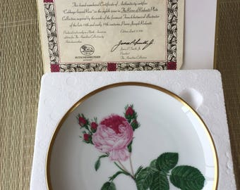 6 Roses of Redoute collectors plates limited edition Hutschenreuther Germany