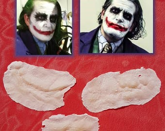 Joker Scars Prosthetic Appliances Batman Dark Knight Heath Ledger