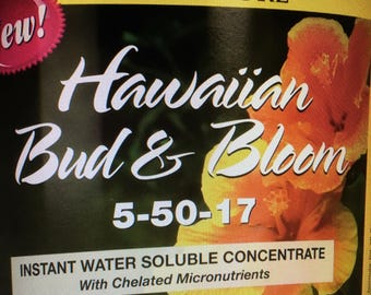 Bloom Food for Flowers, 4 Packets of Concentrate, Makes 4 gallons Plant & Flower Fertilizer Concentrate, for Plumerias and flowering plants