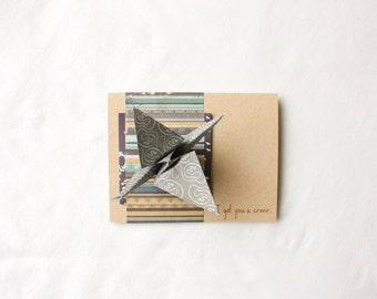 Origami Kit Card: I Got You a Crane--DIY Kit--DIY Origami