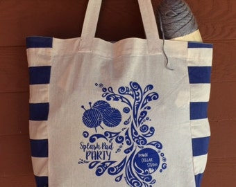 EXCLUSIVE Splash Pad Party Tribal Tattoo Origins Cotton Tote Bag