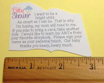 Baby Shower Book Poem