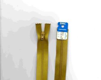 """Closure zipper""""plastic"""" non detachable yellow/green 12cm"""