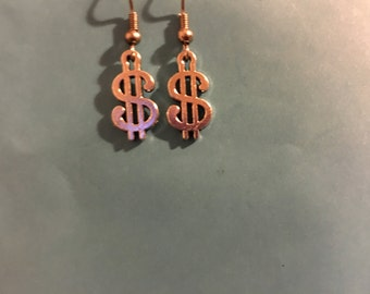 Dollar Sign  Earrings   K53