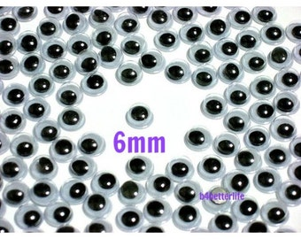 300pcs 6mm Plastic Eyes Googly Eyes for Craft.