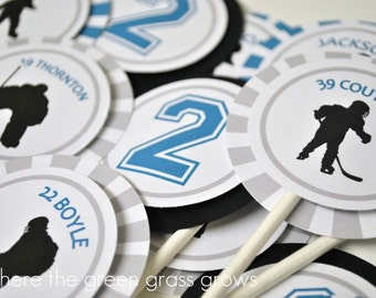 Hockey Cupcake Toppers