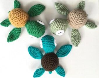 Crochet amigurumi sea turtle
