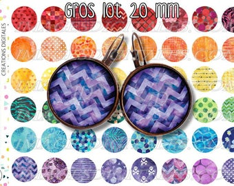 20 mm id 1 Digital Collage Sheet Printable Instant Download for art jewelry scrapbooking bottle caps magnets pins